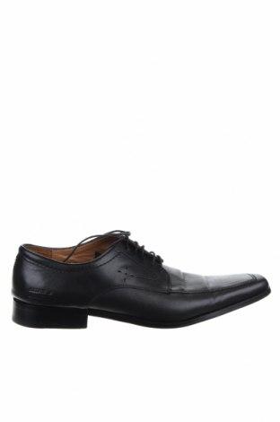 Ανδρικά παπούτσια Melvin & Hamilton, Μέγεθος 46, Χρώμα Μαύρο, Γνήσιο δέρμα, Τιμή 27,22€