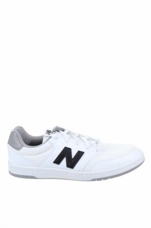 Ανδρικά παπούτσια New Balance, Μέγεθος 45, Χρώμα Λευκό, Δερματίνη, κλωστοϋφαντουργικά προϊόντα, Τιμή 45,08€
