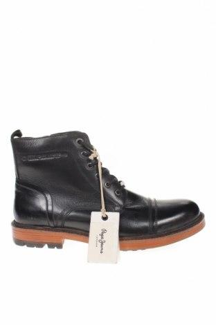 Мъжки обувки Pepe Jeans, Размер 45, Цвят Черен, Естествена кожа, Цена 201,75лв.