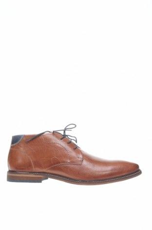 Мъжки обувки Pier One, Размер 48, Цвят Кафяв, Естествена кожа, Цена 89,25лв.