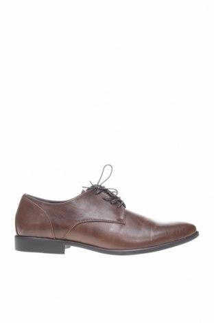 Ανδρικά παπούτσια Pier One, Μέγεθος 48, Χρώμα Καφέ, Δερματίνη, Τιμή 26,06€