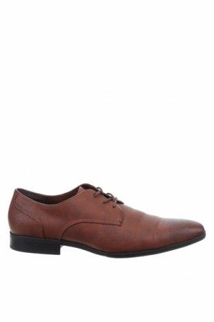 Ανδρικά παπούτσια Pier One, Μέγεθος 45, Χρώμα Καφέ, Δερματίνη, Τιμή 34,41€