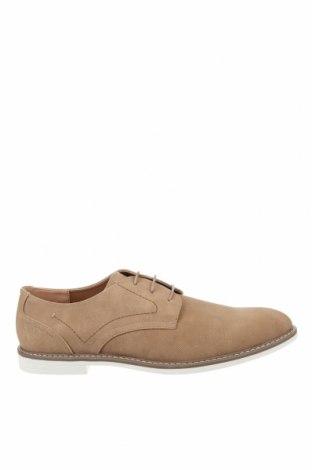 Мъжки обувки Pier One, Размер 48, Цвят Бежов, Еко кожа, Цена 43,45лв.