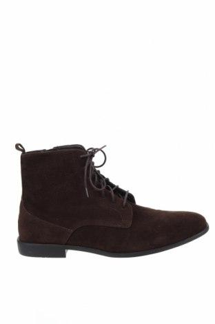 Мъжки обувки Pier One, Размер 48, Цвят Кафяв, Еко кожа, Цена 42,32лв.