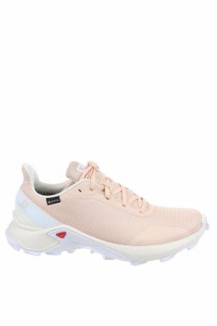Мъжки обувки Salomon, Размер 42, Цвят Бежов, Текстил, Цена 87,45лв.