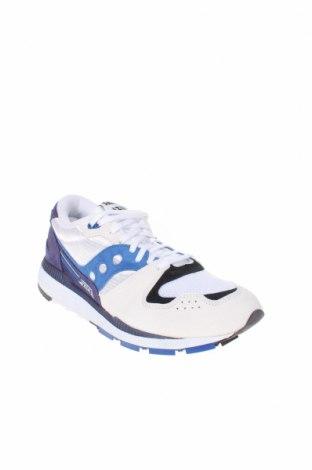 Ανδρικά παπούτσια Saucony, Μέγεθος 45, Χρώμα Πολύχρωμο, Φυσικό σουέτ, κλωστοϋφαντουργικά προϊόντα, Τιμή 30,90€