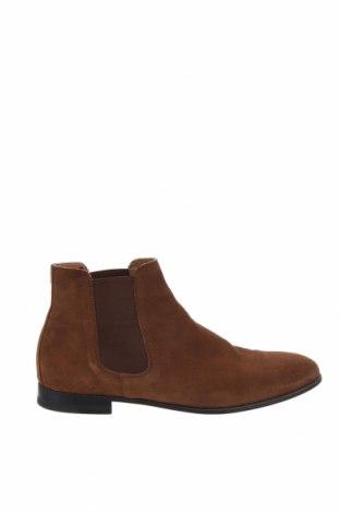 Мъжки обувки Zara Man, Размер 41, Цвят Кафяв, Естествен велур, Цена 42,84лв.