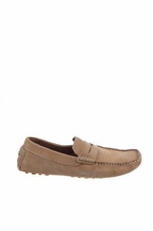 Мъжки обувки Zign, Размер 43, Цвят Бежов, Естествен велур, Цена 36,72лв.