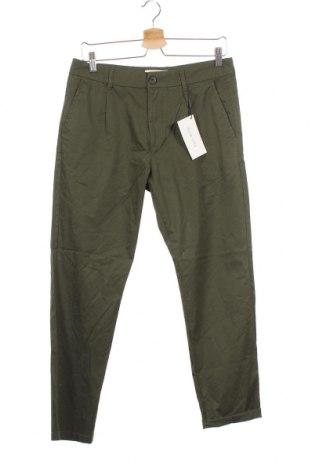 Мъжки панталон Pier One, Размер M, Цвят Зелен, Памук, Цена 48,00лв.