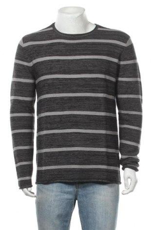 Ανδρικό πουλόβερ John Devin, Μέγεθος M, Χρώμα Γκρί, 50% βαμβάκι, 50% πολυακρυλικό, Τιμή 11,41€
