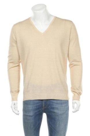 Мъжки пуловер Prada, Размер XL, Цвят Бежов, Вълна, Цена 419,00лв.