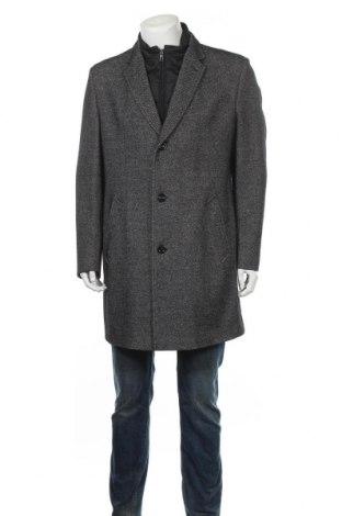 Ανδρικά παλτό Bugatti, Μέγεθος XL, Χρώμα Γκρί, 48% βαμβάκι, 36% μαλλί, 13% πολυαμίδη, 3% άλλα νήματα, Τιμή 83,18€