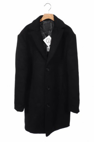 Ανδρικά παλτό Mennace, Μέγεθος XS, Χρώμα Μαύρο, 70% πολυεστέρας, 30% μαλλί, Τιμή 35,06€
