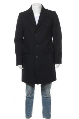 Ανδρικά παλτό Pier One, Μέγεθος L, Χρώμα Μπλέ, 71% πολυεστέρας, 9% μαλλί, 6% βισκόζη, 6% πολυακρυλικό, 4% βαμβάκι, 4% πολυαμίδη, Τιμή 34,56€