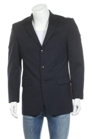 Мъжко сако Marks & Spencer, Размер M, Цвят Син, 98% вълна, 2% еластан, Цена 36,75лв.