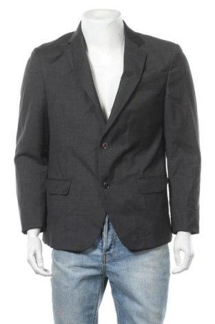 Ανδρικό σακάκι Massimo Dutti, Μέγεθος L, Χρώμα Γκρί, Μαλλί, Τιμή 22,41€