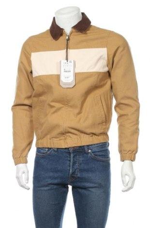 Мъжко яке Pull&Bear, Размер S, Цвят Бежов, Памук, Цена 59,25лв.