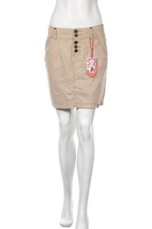 Пола Edc By Esprit, Размер S, Цвят Бежов, 55% памук, 45% лен, Цена 3,25лв.