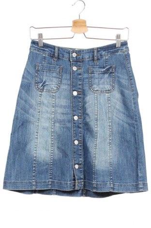 Пола H&M L.O.G.G., Размер XS, Цвят Син, 99% памук, 1% еластан, Цена 9,18лв.