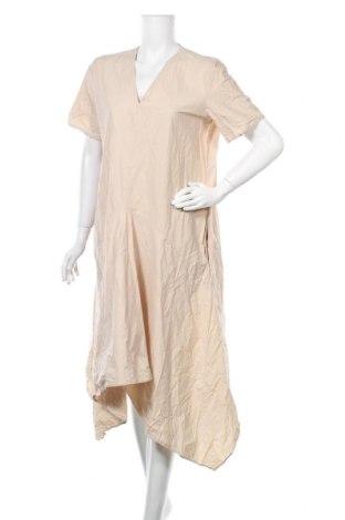 Рокля COS, Размер XL, Цвят Бежов, 96% памук, 4% еластан, Цена 66,83лв.