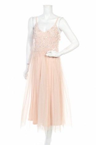 Рокля Lace & Beads, Размер S, Цвят Розов, Полиестер, Цена 81,95лв.