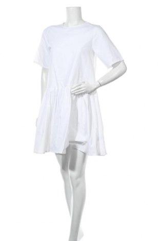 Рокля Mbym, Размер XS, Цвят Бял, 55% полиестер, 45% памук, Цена 96,75лв.