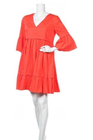 Рокля TWINSET, Размер XL, Цвят Червен, 96% памук, 4% еластан, Цена 72,45лв.