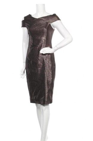 Φόρεμα Ted Baker, Μέγεθος M, Χρώμα Καφέ, 57% πολυεστέρας, 37% βαμβάκι, 6% μεταλλικά νήματα, Τιμή 48,90€
