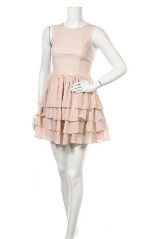 Рокля Warehouse, Размер S, Цвят Розов, Естествена кожа, полиестер, Цена 30,24лв.