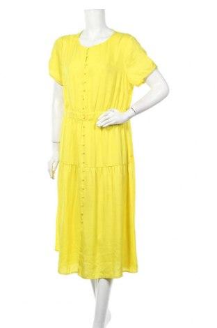Рокля Yessica, Размер XL, Цвят Жълт, Полиестер, Цена 26,25лв.