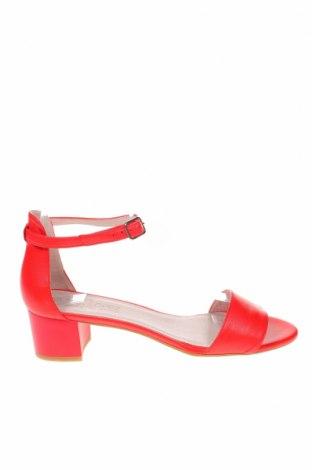 Sandály Eva Lopez, Velikost 41, Barva Červená, Pravá kůže, Cena  995,00Kč