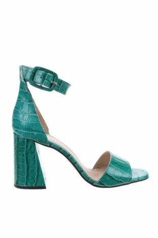 Сандали Mineli, Размер 39, Цвят Зелен, Естествена кожа, Цена 57,85лв.