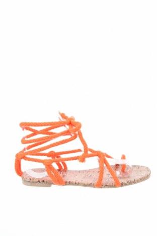Сандали Public Desire, Размер 36, Цвят Оранжев, Текстил, Цена 23,60лв.
