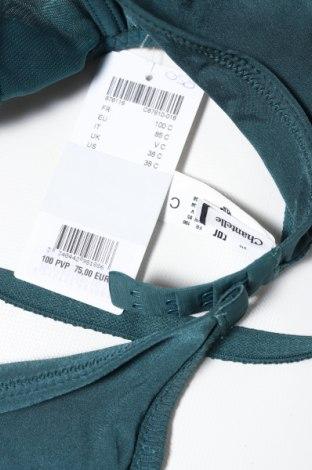 Сутиен Chantelle, Размер L, Цвят Зелен, Полиамид, вискоза, еластан, Цена 72,00лв.