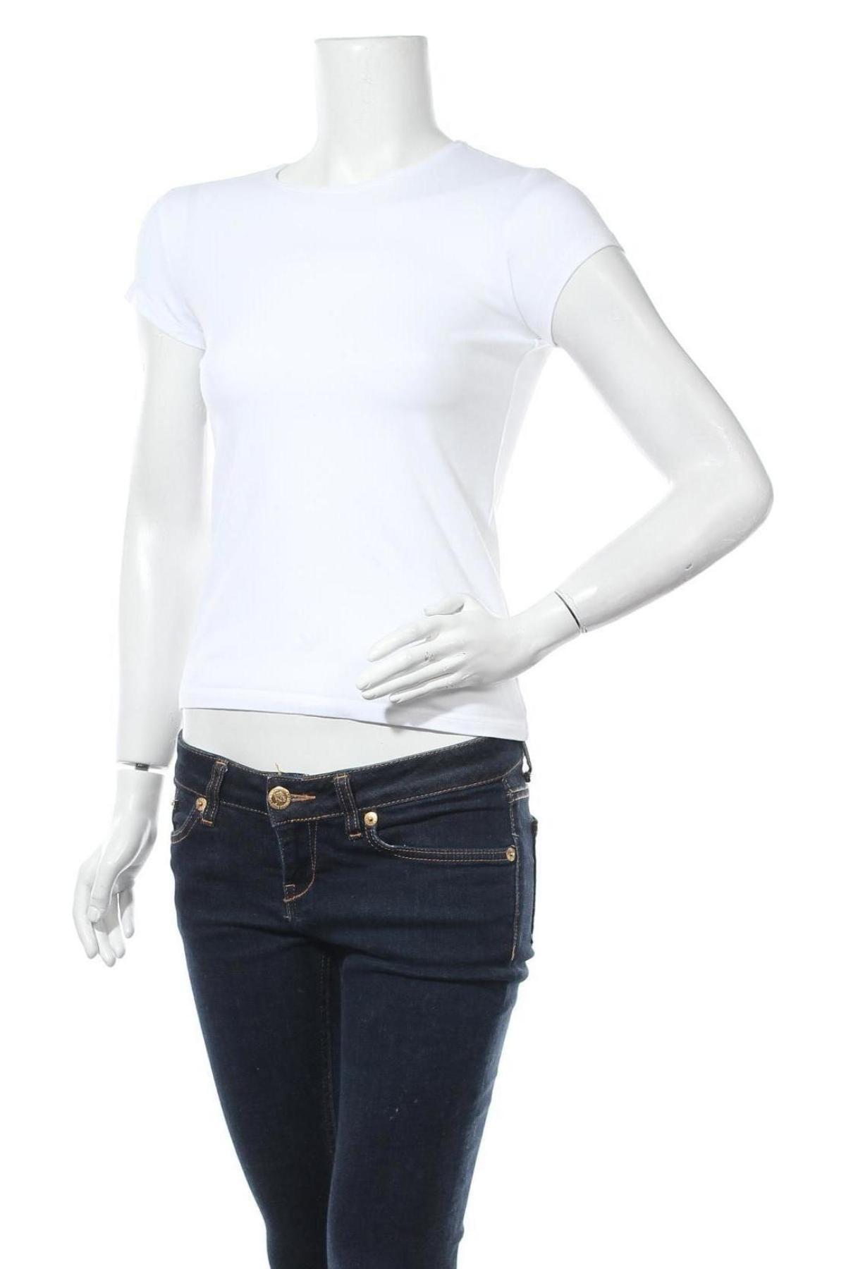 Дамска тениска Massimo Dutti, Размер S, Цвят Бял, 92% памук, 8% еластан, Цена 18,90лв.