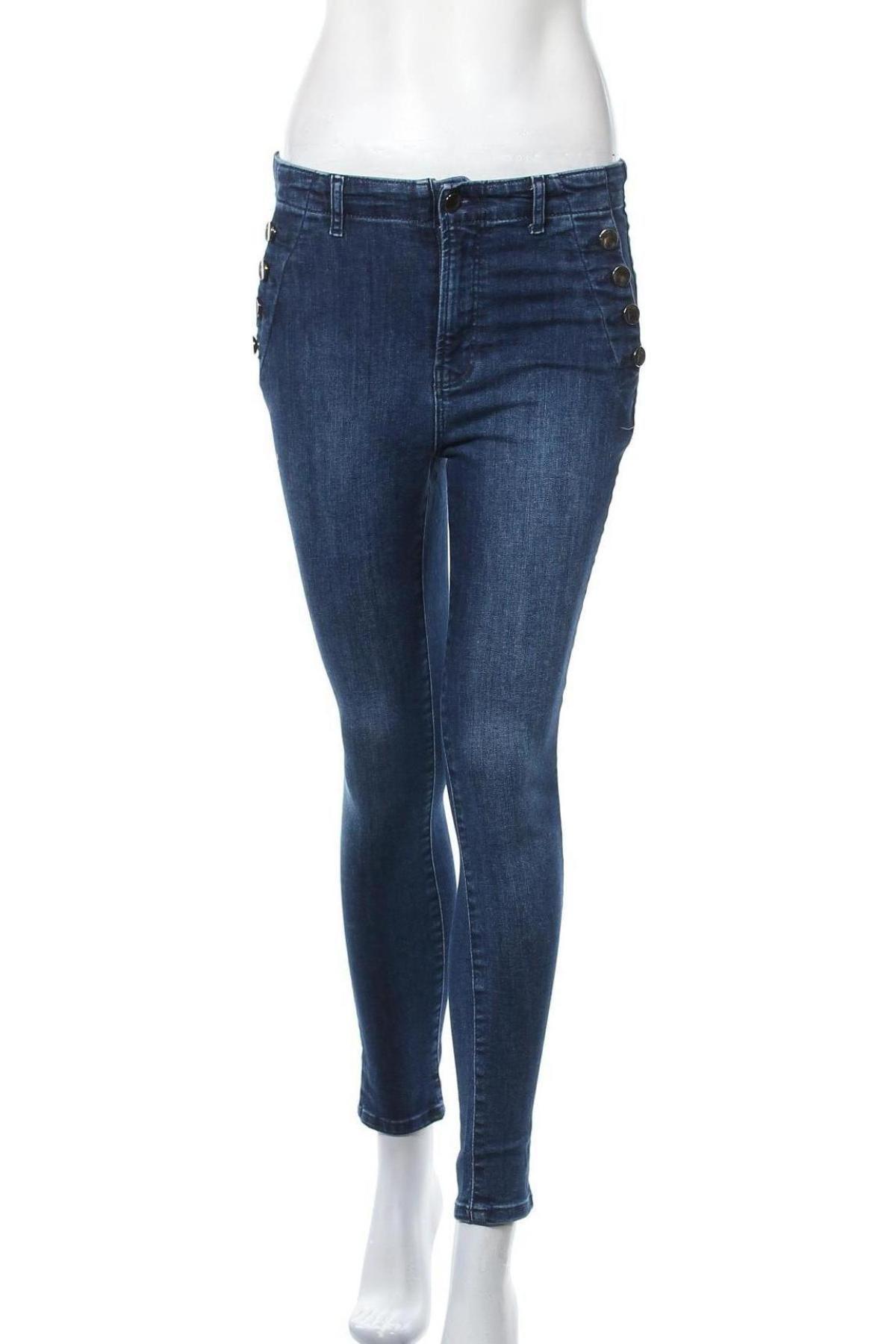 Дамски дънки Vivance, Размер M, Цвят Син, 97% памук, 3% еластан, Цена 23,04лв.