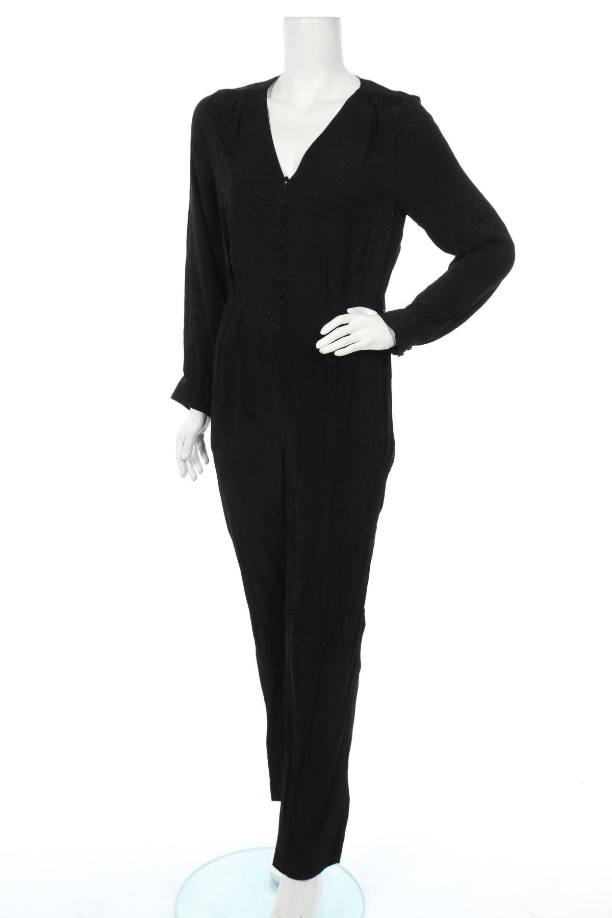 Γυναικεία σαλοπέτα Massimo Dutti, Μέγεθος M, Χρώμα Μαύρο, Βισκόζη, Τιμή 26,60€