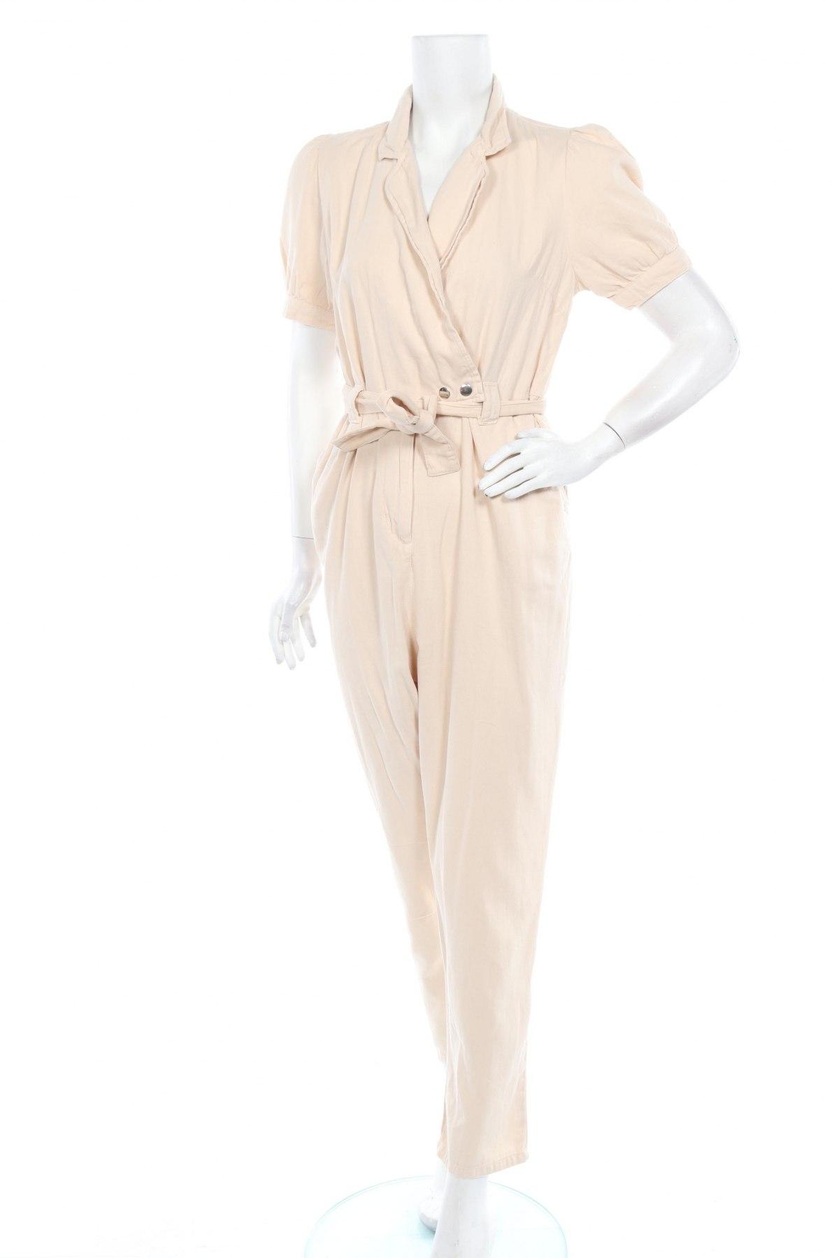 Дамски гащеризон Miss Selfridge, Размер M, Цвят Бежов, 100% памук, Цена 48,95лв.