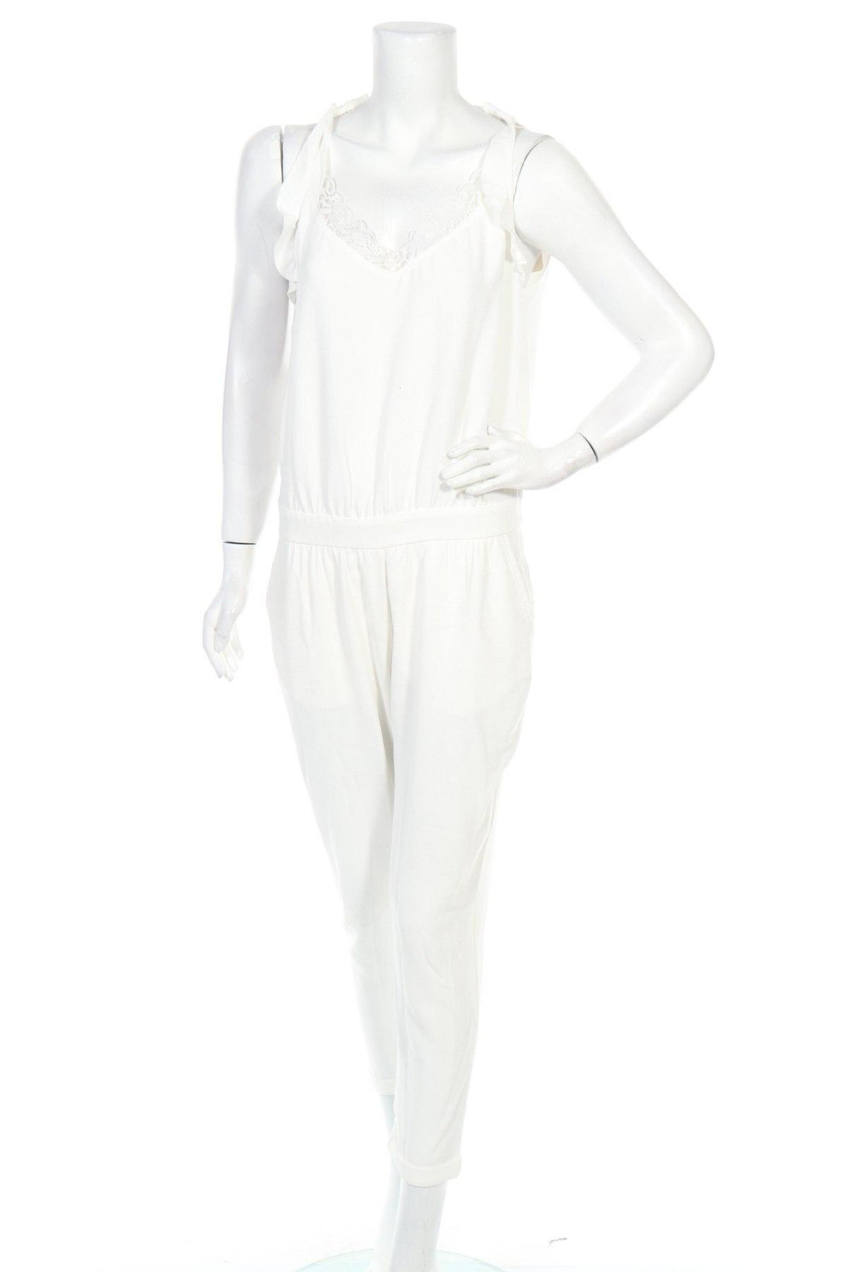 Дамски гащеризон Teddy Smith, Размер M, Цвят Бял, Полиестер, Цена 37,92лв.