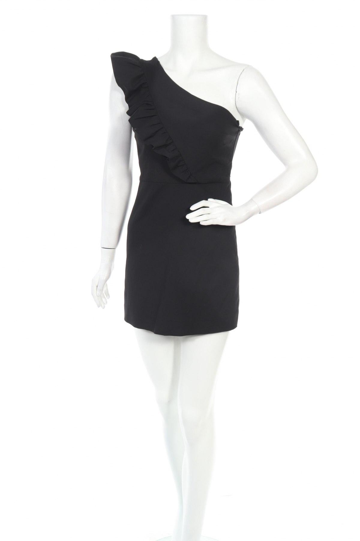 Γυναικεία σαλοπέτα Zara, Μέγεθος S, Χρώμα Μαύρο, 51% βαμβάκι, 46% πολυεστέρας, 3% ελαστάνη, Τιμή 26,68€