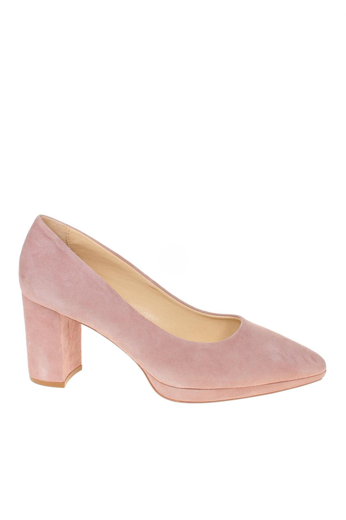 Дамски обувки Elodie, Размер 38, Цвят Розов, Естествен велур, Цена 89,25лв.