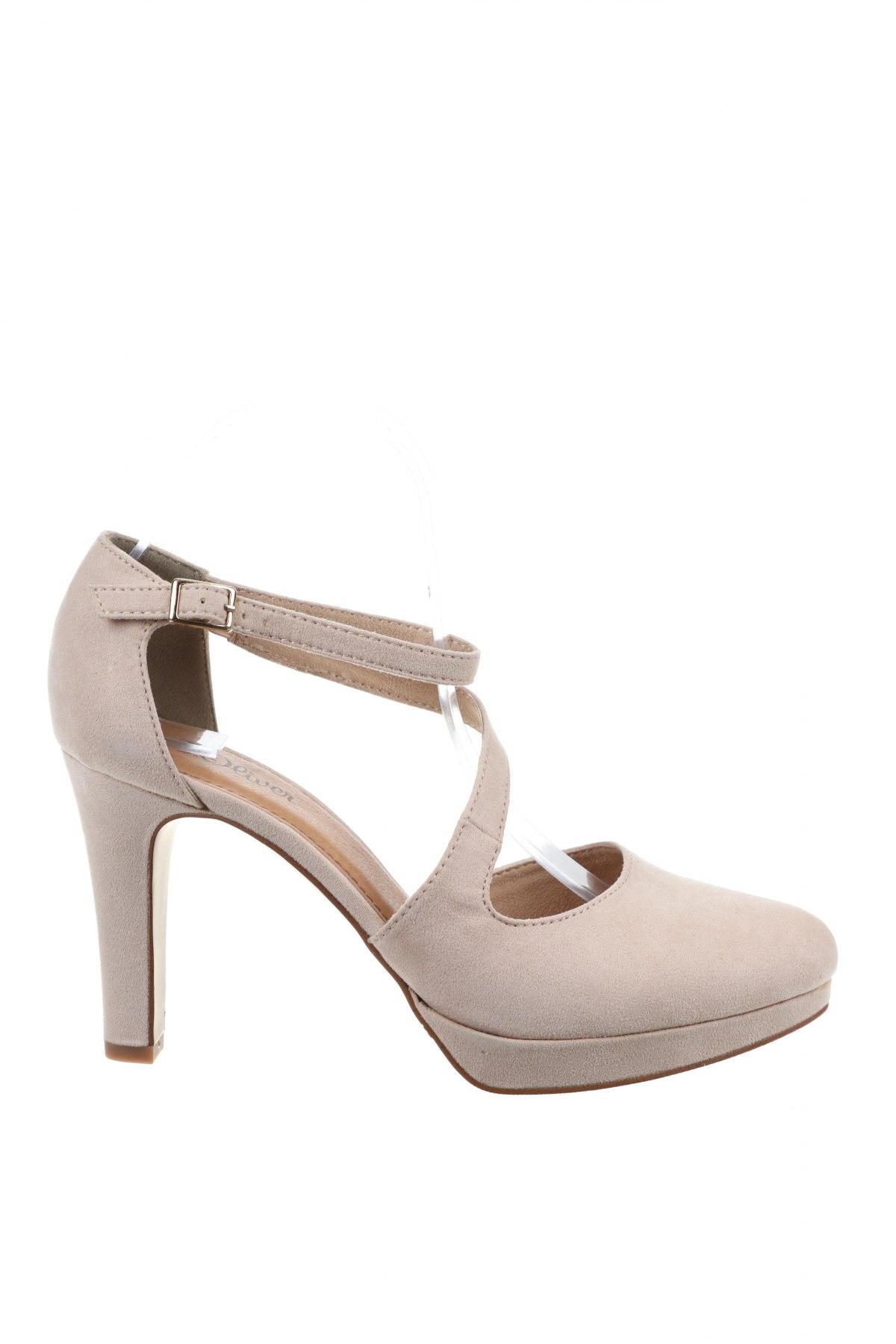 Дамски обувки S.Oliver, Размер 40, Цвят Бежов, Текстил, Цена 32,39лв.