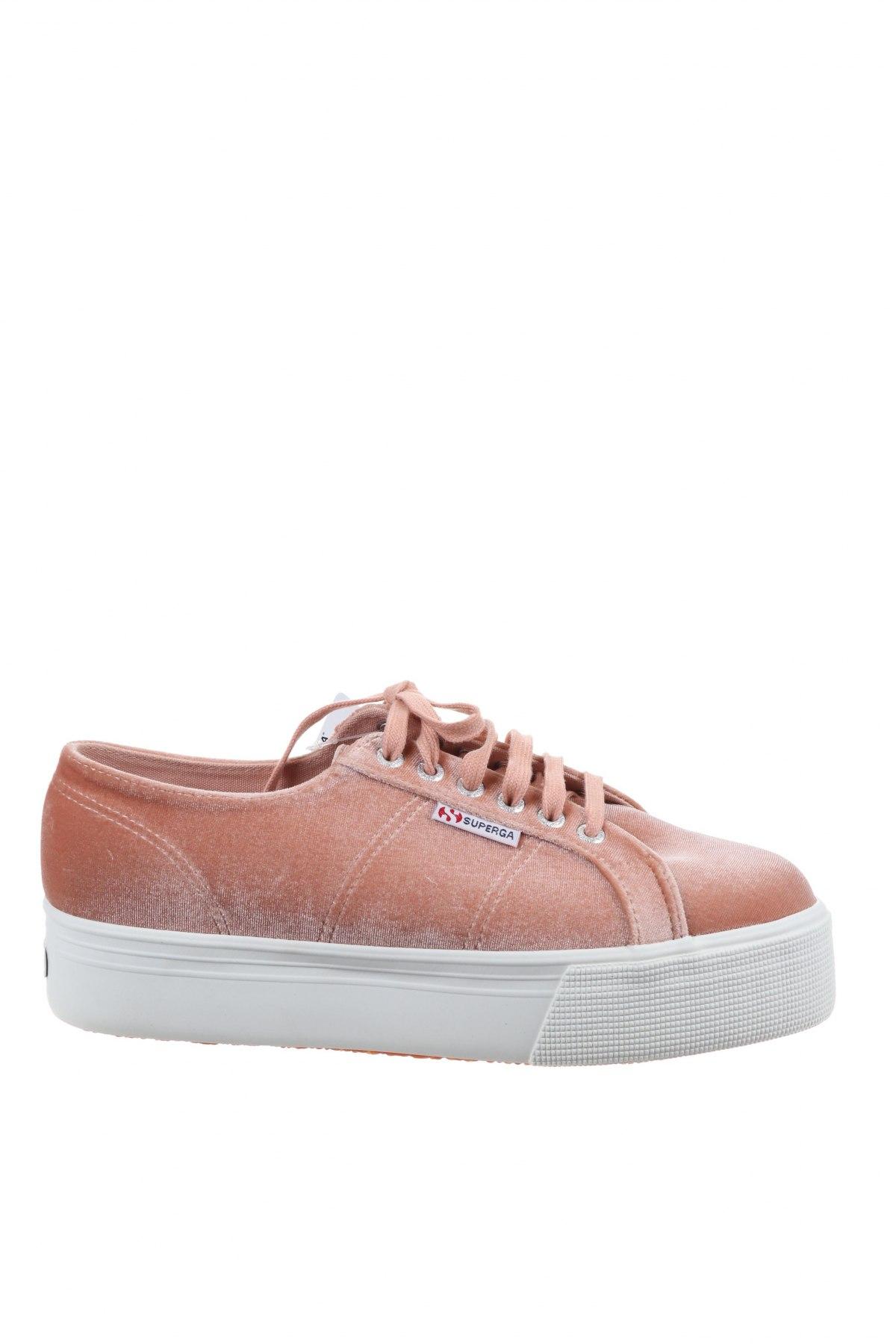 Дамски обувки Superga, Размер 41, Цвят Бежов, Текстил, Цена 63,07лв.