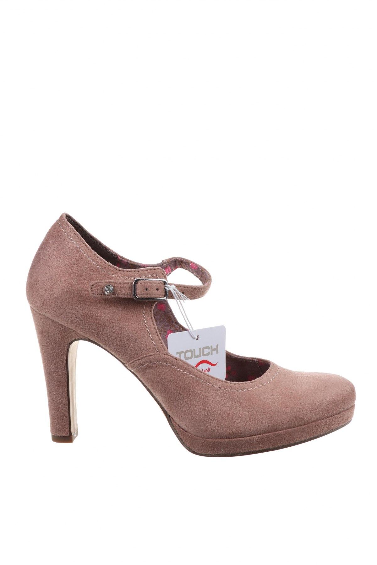 Дамски обувки Tamaris, Размер 38, Цвят Розов, Текстил, Цена 51,75лв.