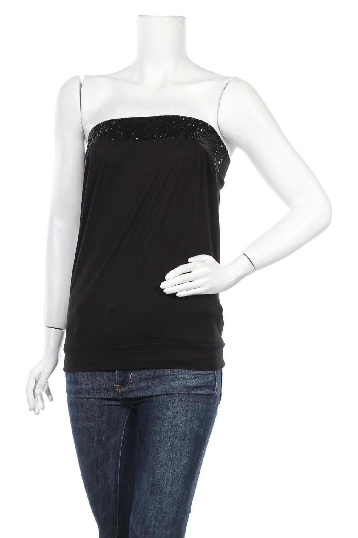 Дамски потник Jennifer Taylor, Размер S, Цвят Черен, 95% вискоза, 5% еластан, Цена 5,04лв.