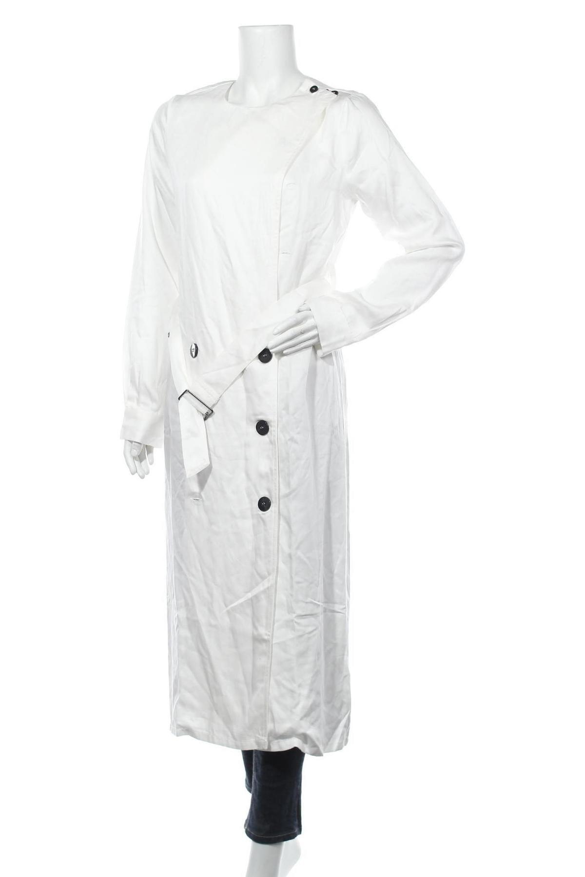 Дамски шлифер Who What Wear, Размер M, Цвят Бял, Лиосел, Цена 32,80лв.