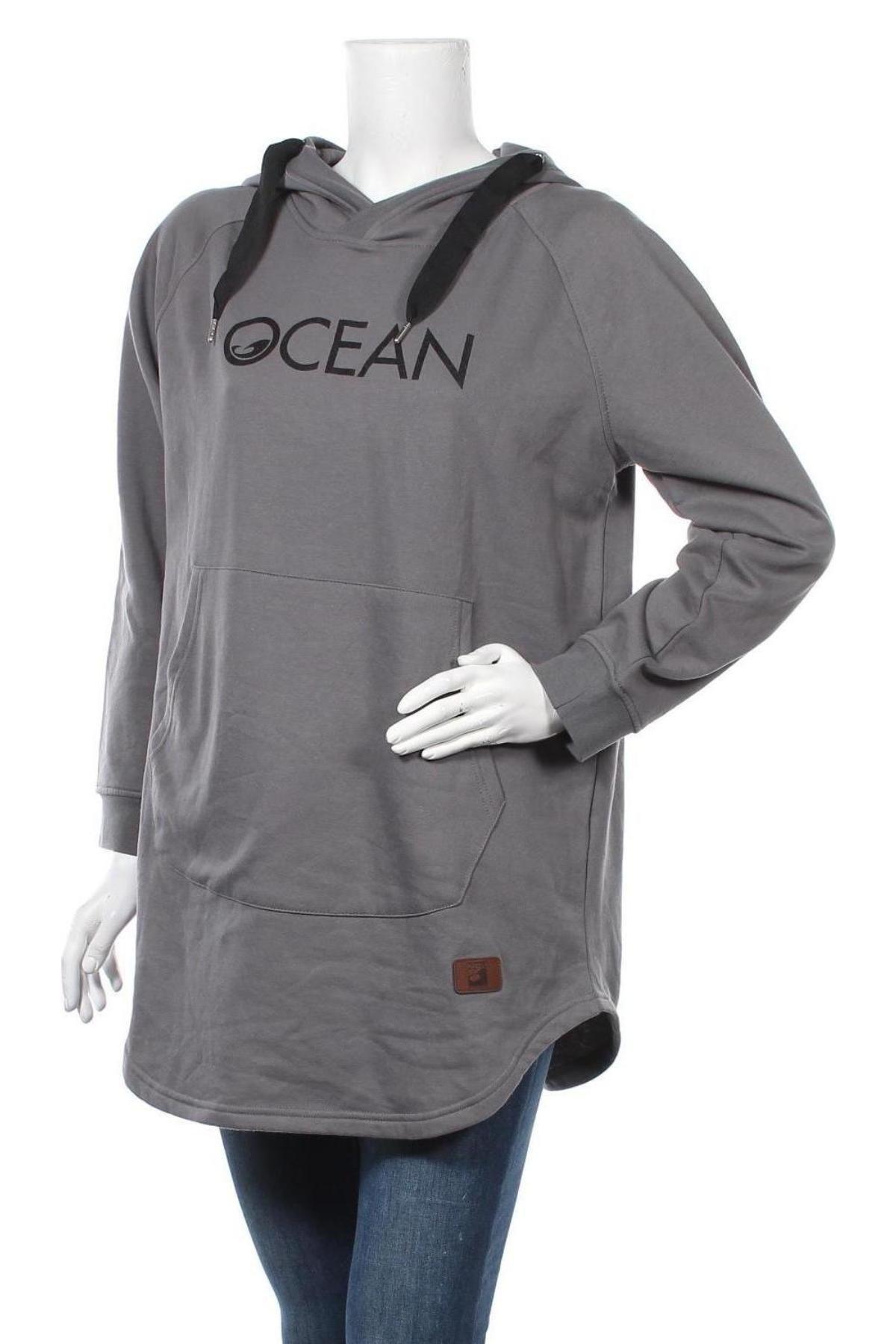 Γυναικείο φούτερ Ocean, Μέγεθος L, Χρώμα Γκρί, 60% βαμβάκι, 40% πολυεστέρας, Τιμή 19,73€