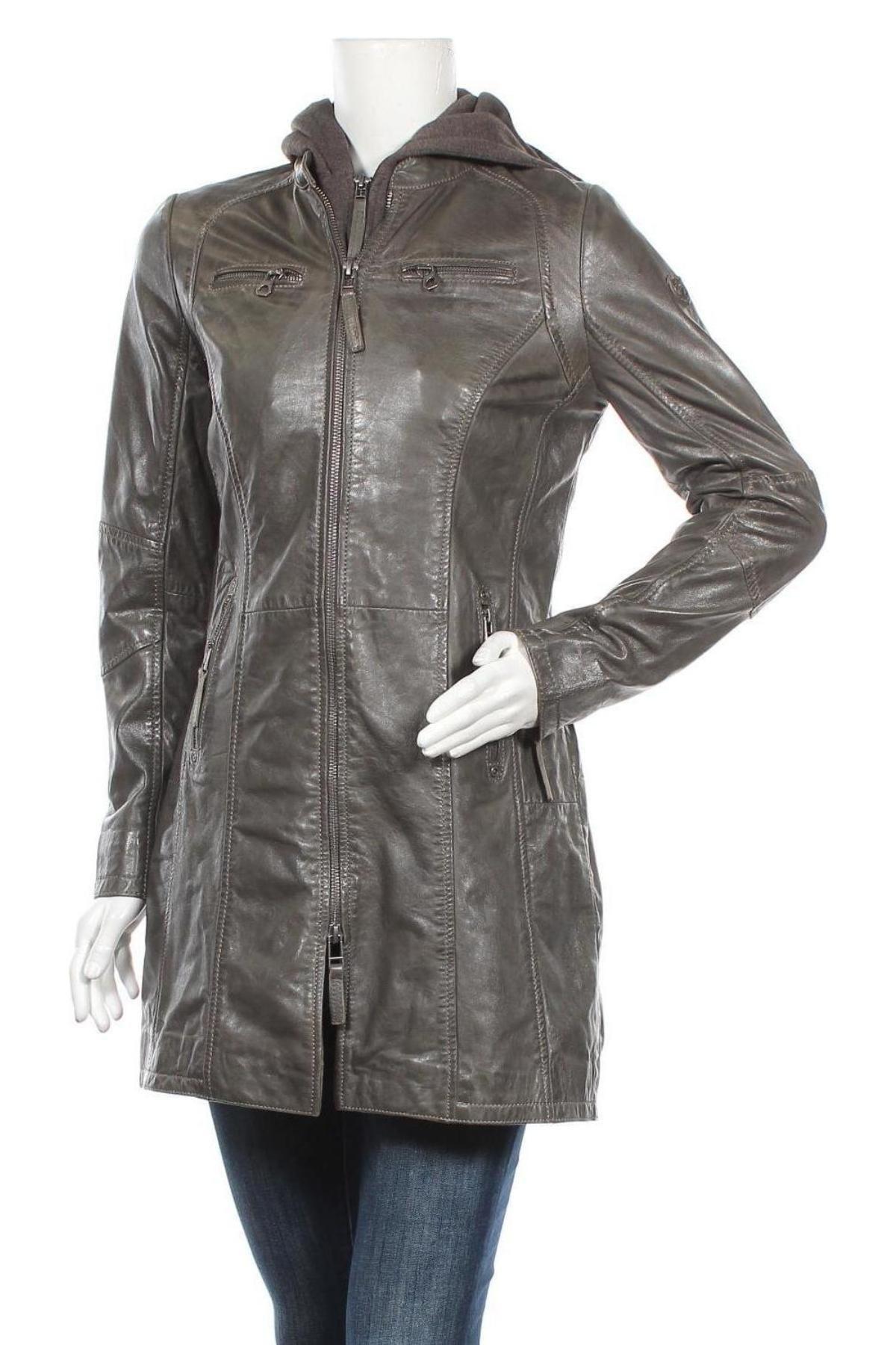 Γυναικείο δερμάτινο μπουφάν Gipsy, Μέγεθος S, Χρώμα Γκρί, Γνήσιο δέρμα, Τιμή 110,29€