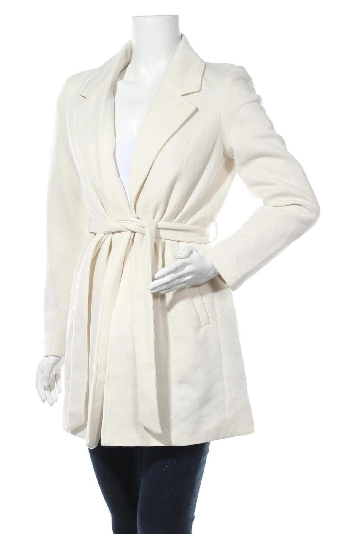 Дамско палто Vero Moda, Размер S, Цвят Екрю, 85% полиестер, 15% памук, Цена 59,25лв.