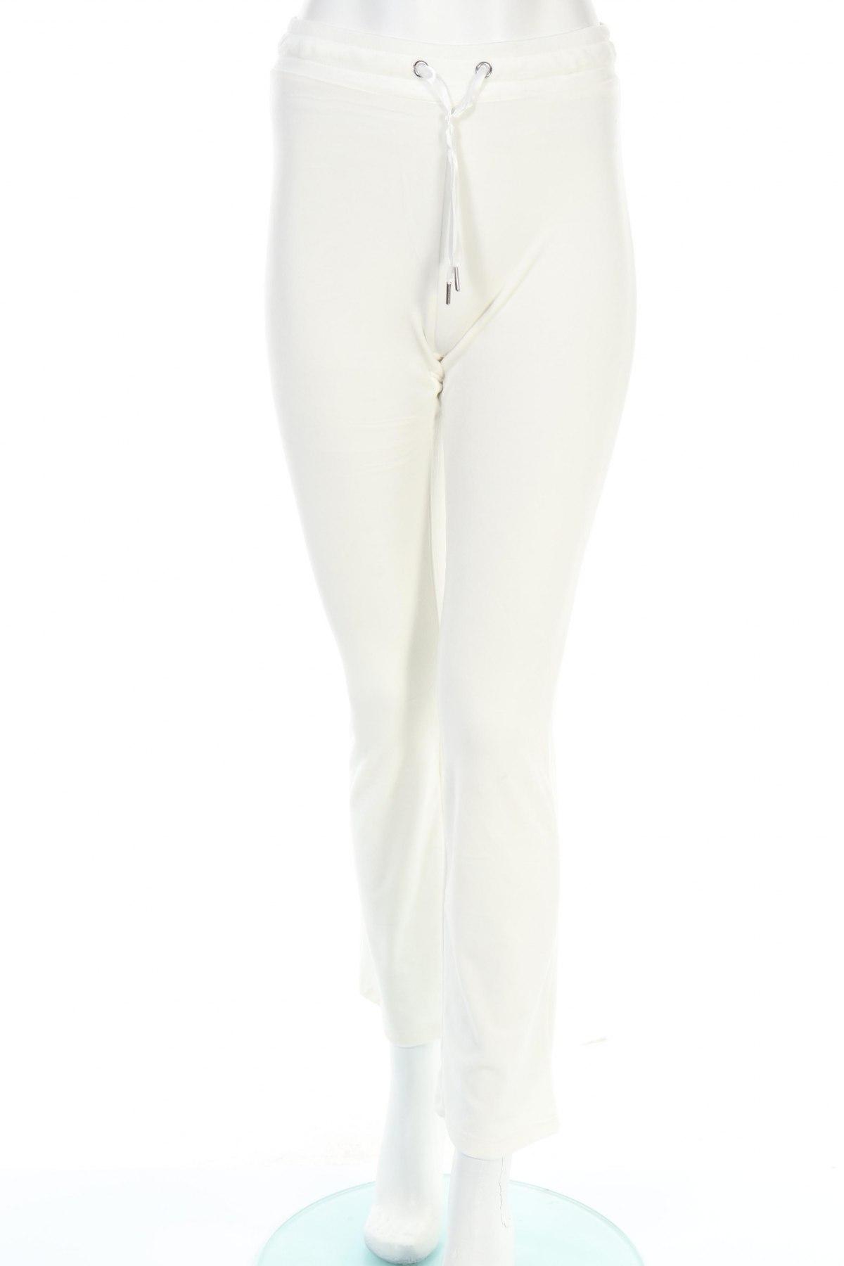 Дамско спортно долнище Gina Tricot, Размер XS, Цвят Бял, 95% полиестер, 5% еластан, Цена 13,72лв.